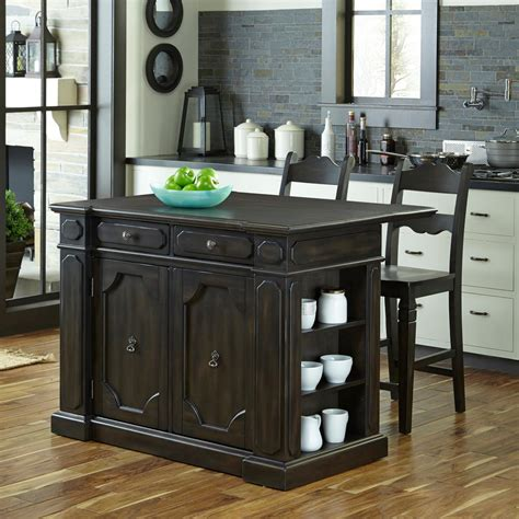 oak kitchen island with seating home styles americana distressed cottage oak kitchen
