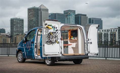 nissan builds a tiny office in an electric treehugger