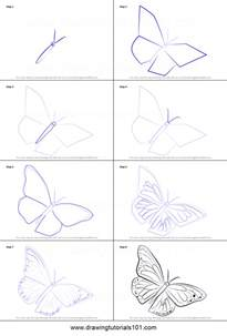 How To Draw A Step By Step How To Draw A Monarch Butterfly Printable Step By Step