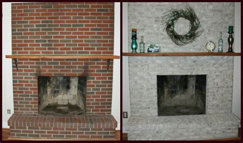 fireplace brick resurfacing diy