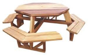 Octagon Patio Table Plans Here Walk In Octagon Picnic Table Plans Woodworking By Sandoro