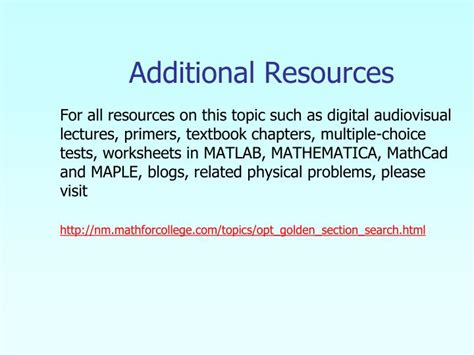 golden section search method ppt golden section search method powerpoint presentation