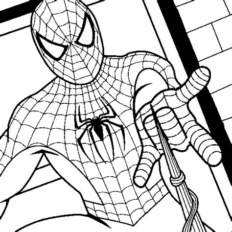 unlae spiderman colouring pages