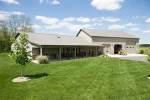 Shop Home Plans Pole Barn Home With Heated Garage Lafayette Indiana