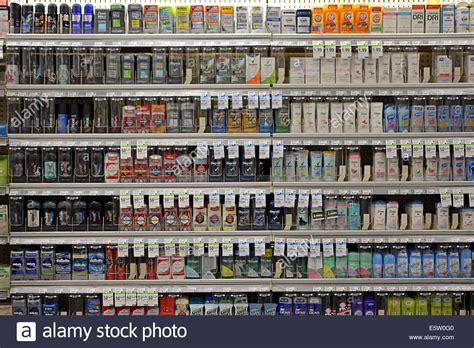 Shelf Of Deodorant by Shelves Of Deodorant For Sale At A Supermarket Pharmacy