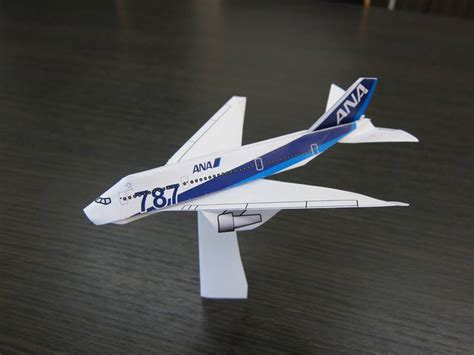 Origami Model Airplanes - boeing 787 airplane graphic origami taro s origami