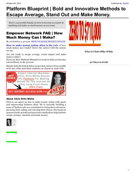 How Much Money Can I Make Online - how much money can i make online with empower network