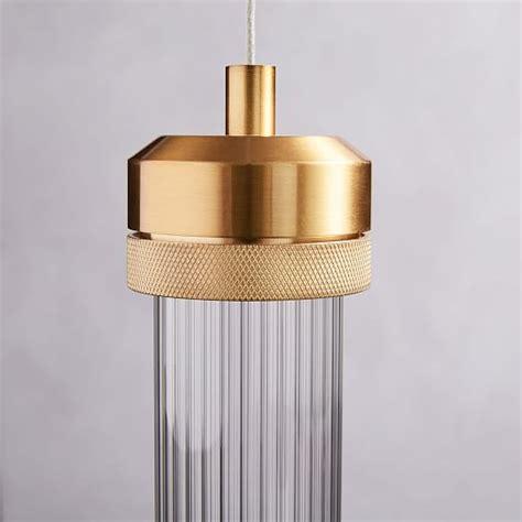led cylinder pendant lights fluted cylinder led pendant elm