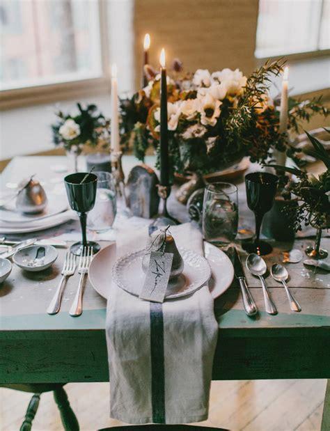 Dark Ocean Winter Wedding Inspiration   Green Wedding Shoes