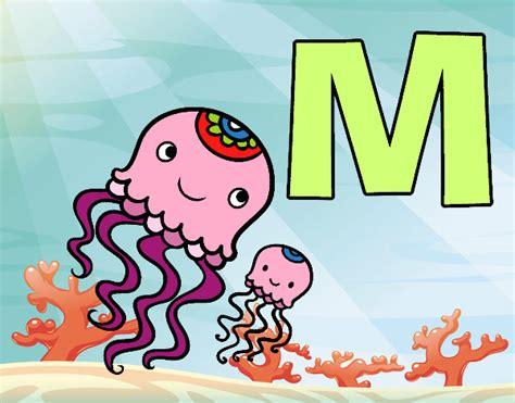 desenho de letra m pintado desenho de m de medusa pintado e colorido por usu 225 n 227 o registrado o dia 01 de junho do 2016