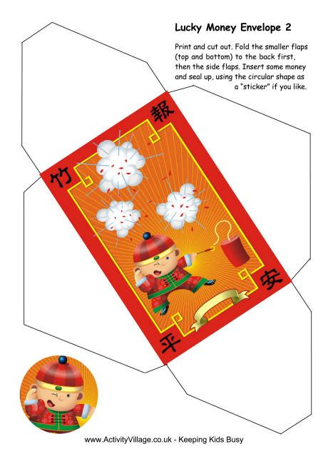new year luck envelopes lucky money envelope orange boy