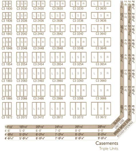 andersen awning window sizes casement window size chart