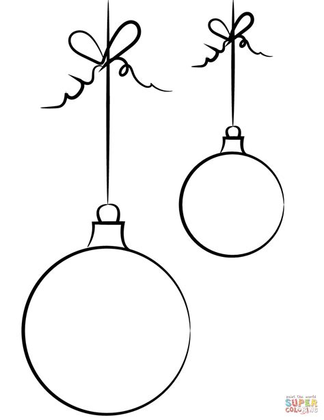how to draw christmas balls balls coloring page free printable coloring pages