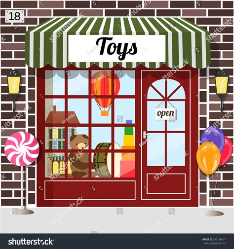the doll house toy store toy shop toy store building facade stock vector 395166217 shutterstock