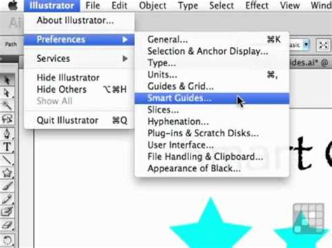 the illustrators guide to learn how to use smart guides in this illustrator cs5 tutorial youtube
