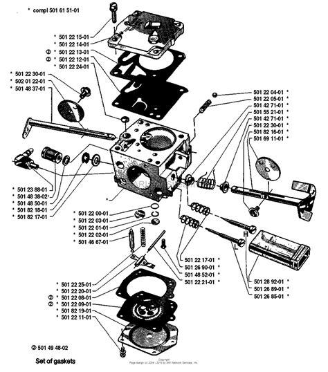 tillotson carb diagram husqvarna 285 1981 12 parts diagram for carburetor parts