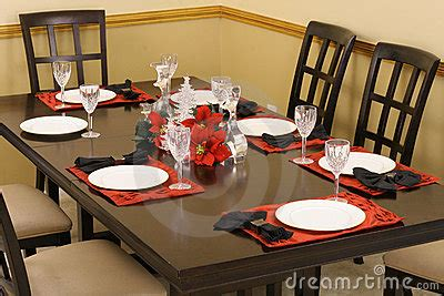 dining room table setting royalty free stock photos