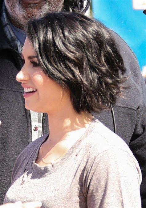 exciting shorter hair syles for thick hair 20 collection of demi lovato short haircuts