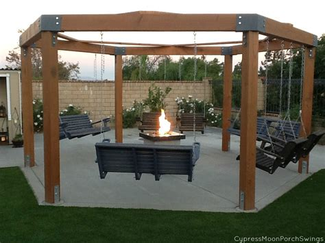 swing patio porch swings fire pit circle porch swings patio swings