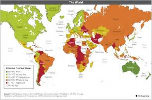 World Region Map by Download Index Of Economic Freedom Data Maps And Book