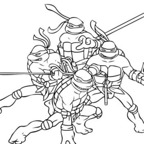 simple ninja turtles coloring page print download the attractive ninja coloring pages for