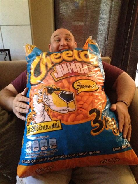 hot chips make you sick now that is a jumbo bag of cheetos neatorama