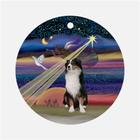 tri color australian shepherd christmas ornaments 1000s