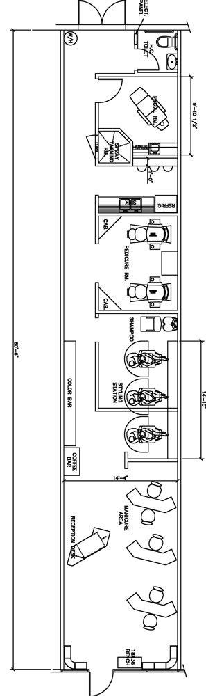 hair salon layout cad beauty salon floor plan design layout 1120 square foot