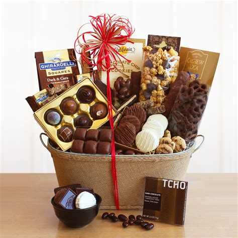 chocolate lovers gift basket wine lovers shopping mall