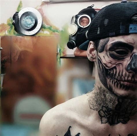 russian teen get detailed skull tattooed on one side of