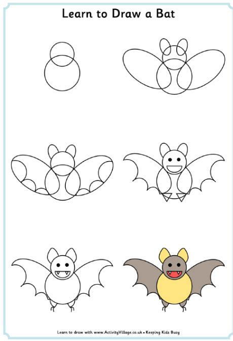learn how to make doodle learn to draw a bat