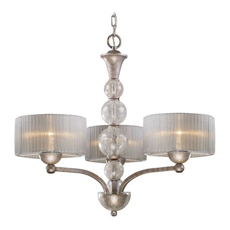 Silver Chandelier Shades Modern Chandelier With Silver Shade In Antique Silver Finish 20008 3 Destination Lighting