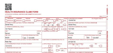 fillable cms 1500 template hcfa 1500 form pdf fillable form resume exles