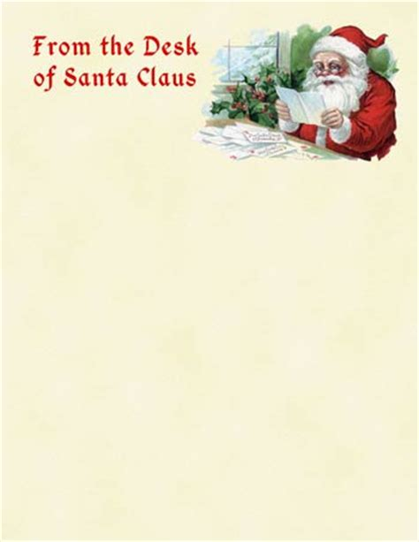 letter from santa claus template desk of santa border clipart clipart suggest