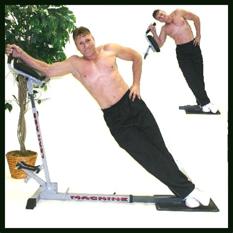obliques lean advanced at the lean abs machinethe step up and go ab machine