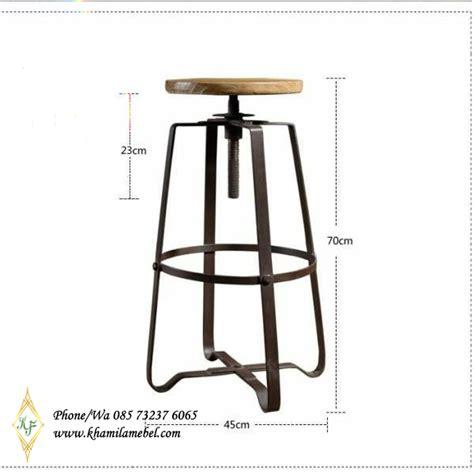 Harga Kursi Bar Stool Informa kursi bar stool rangka besi dudukan bundar khamila mebel