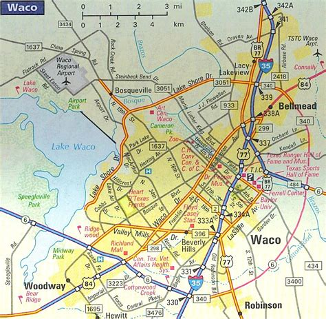 map of waco texas area map of waco texas