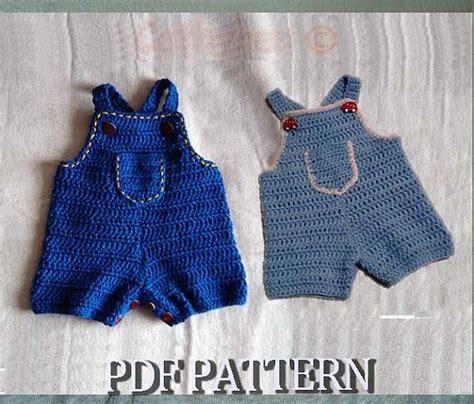 pattern jumpsuit baby instant download crochet pattern 64 baby jeans romper by