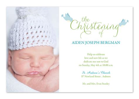 Christening Birds   Baptism Invitations by Invitation
