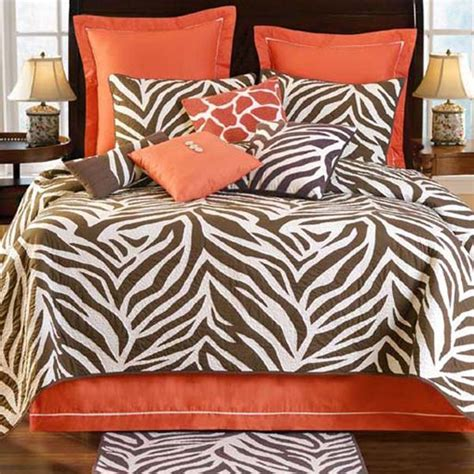 brown zebra orange bedding all things animal print