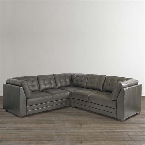 l shaped leather sectional slate grey leather small l shaped sectional