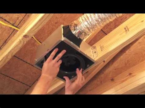 nutone bathroom fan installation instructions broan nutone invent bath fan installation youtube
