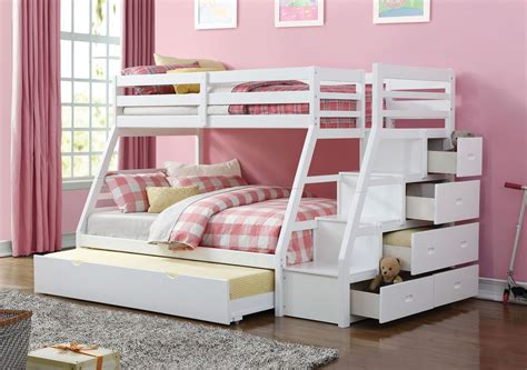 Bunk Beds With Stairs White Elling White Bunkbed With Storage Stairs