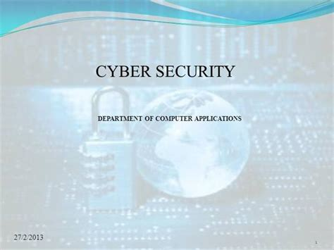 Cyber Security Authorstream Cyber Security Powerpoint Template Free