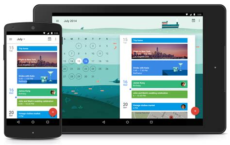 google design for android native google calendar app with material design coming to