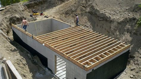 Basement Floor Joists | tanner lake place footings for the basement storage