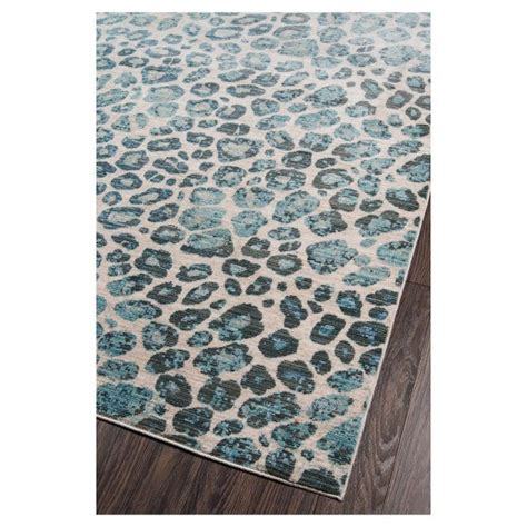 Blue Leopard Print Loomed Area Rug 8 X10 2 Quot Target Leopard Print Area Rug Target