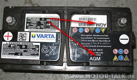 Batteriewechsel Audi A3 by Agm Batterie Ersetzen Audi A6 4f 203142695