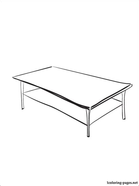 coloring table coloring page coffee table coloring pages