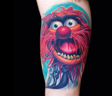 tattoo of animal from the muppets animal drummer tattoo from muppets by nikko hurtado no 162
